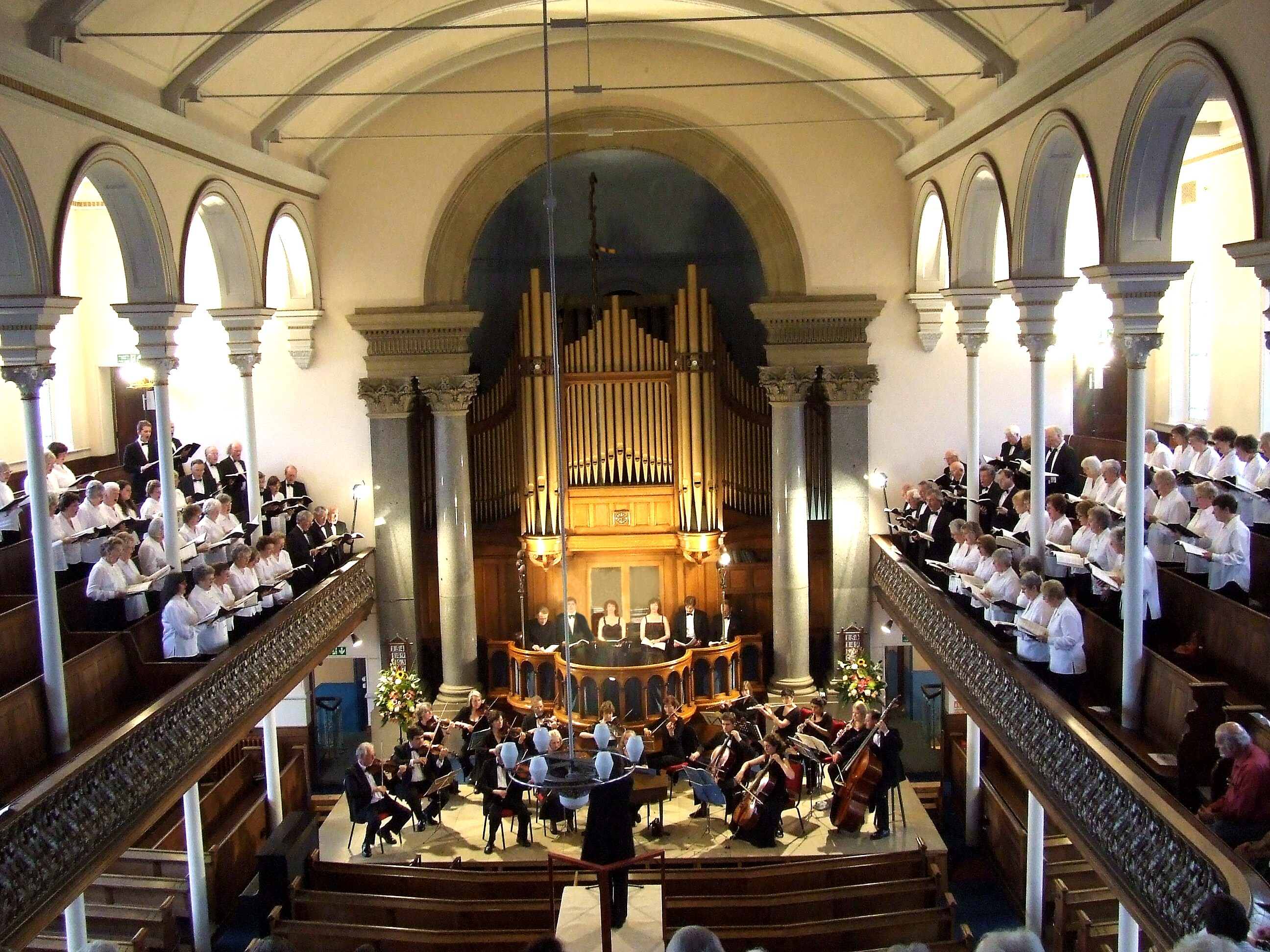Bach's St. John Passion in Newtown         Baptist Church, 2008
